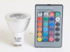 3W GU10 38° RGB LED LAMP with Remote Controller