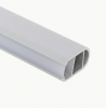F12 - Surface Mounted Channel, (Hanging Rail) - Frosted