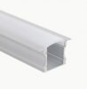 F15 - Square Arch (2515) Channel, (Recessed) - Frosted