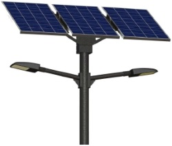 50W Solar Street Light Double - 13000 Lumen