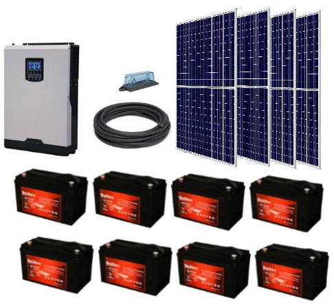 Solar KIT - 5000W Inverter-Charger - 1200W PV, 3000W Hour storage