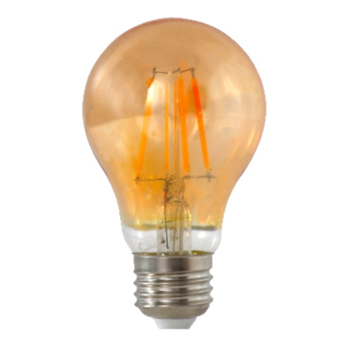 Amber A60 LED Lamp 4W Filament (Dimmable)