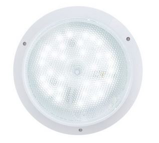 Centurion 16W LED Clear Bulkhead, white trim