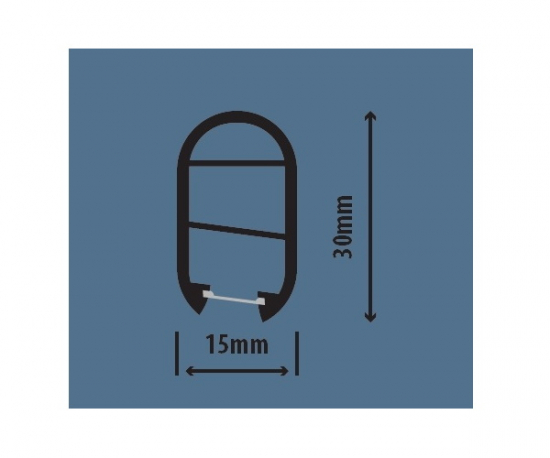 Hanging Rail Profile BK1529-12