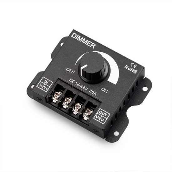 Manual 12V-DC 30A LED Dimmer (360W) 1CH