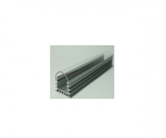 Slotted Aluminium Profile, A19 including cover
